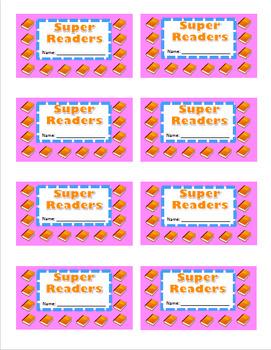 Super Reader Punch Card Incentive