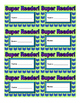 Super Reader Punch Cards Printable