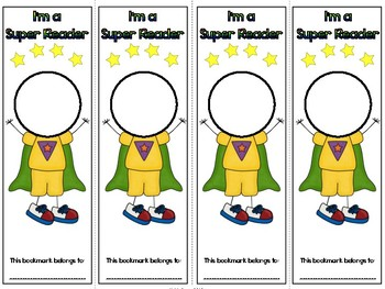 Super Reader Reading Strategies Bookmark