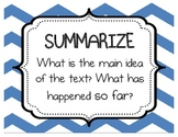 Super Reader Comprehension Strategies - Chevron - Multicolored
