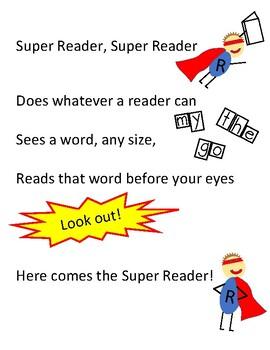 Super Reader song Kindergarten Super Powers Units of Study