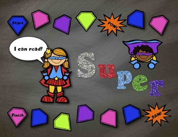 Super Readers Board Game:  CVC and CVCe Words