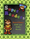 Super Readers Board Game CVC and CVCe Words