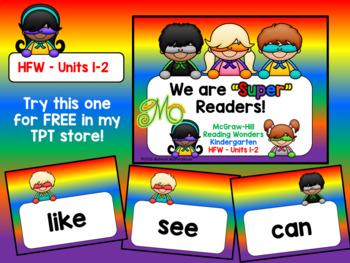 Super Readers Interactive PowerPoint Bundle – Reading Wonders Gr. K – Units 1-10