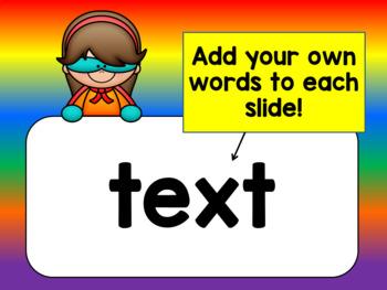 Super Readers Interactive PowerPoint - Editable Version