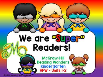 Super Readers Interactive PowerPoint –Reading Wonders –Kindergarten – Units 1-2