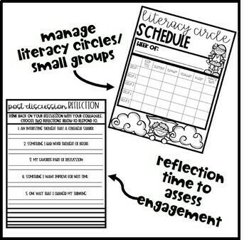 Super Hero Theme Literacy Circle Booklet