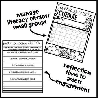 Super Hero Theme Literacy Circle Booklet