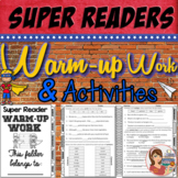 Reading Comprehension Activities (log, warm-up work & more)