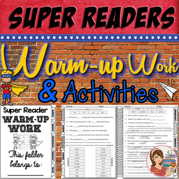 Reading Comprehension Activites