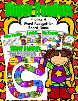 SUPER Readers! Phonics & Word Recognition Board Game