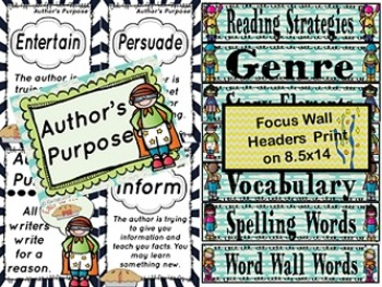 Super Readers Reading Focus Wall