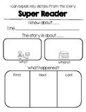 Super Readers Retell Graphic Organizer