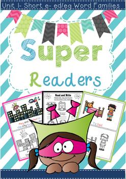 Super Readers -ed/-eg Word families Pack