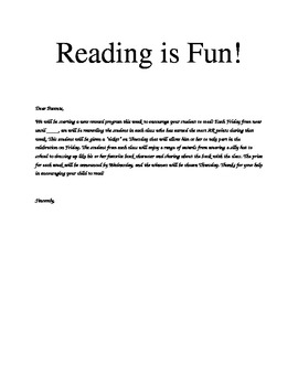 Super Reading Incentive Program