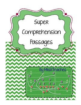 Super Reading Passages, SuperBowl Recipe & Reading