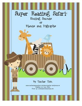 Super Reading Safari:  Ending Sounds or Blends and Digraphs