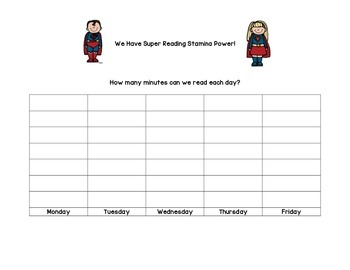 Super Reading Stamina Power Poster