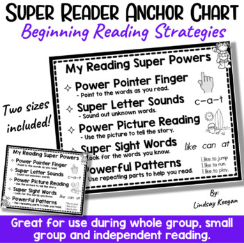 Super Reading Anchor Chart and Student Charts