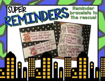 Super Reminder Bracelets