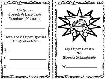 Super Return to Speech & Language: Booklets