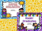 Super Rockin' Subject and Predicate PowerPoint Bundle