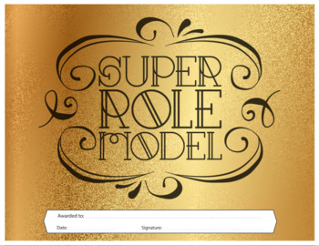 Super Role Model - Reward Certificate {Editable}