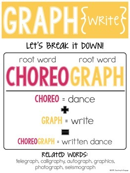 Super Roots: 34 Bright & Colorful Vocabulary Posters