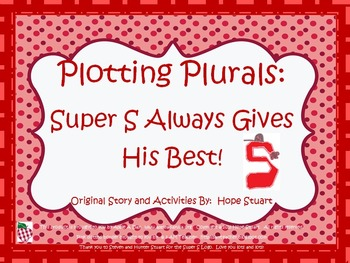 Plotting Plurals: Super S Always Gives His Best! (PowerPoint Book Packet)