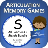S - PowerPoint Memory Games Bundle - Articulation - Digita
