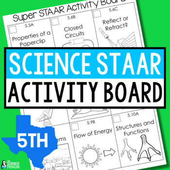 5th Grade Science STAAR Activity Board