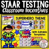 STAAR Classroom Incentives Motivation Packet Superhero Theme | Test Prep