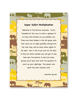Super Safari Multiplication Game