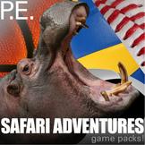 PE Games - 10 Physical Education Games: Super Safari Theme Games for Kids!