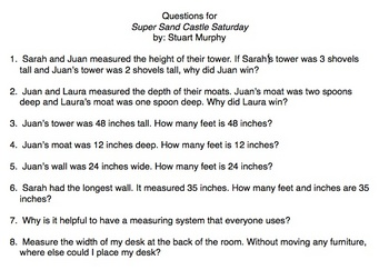 Super Sand Castle Saturday Questions