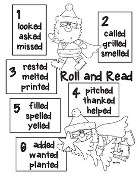Super Santa Roll and Read inflected -ed ending