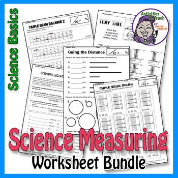 Super Saver Bundle - Science Basics Measuring Worksheet Packet