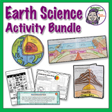 Middle School Earth Science: Earth Layers & Volcano Model Activities Bundle