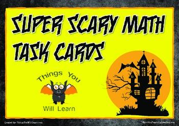 Halloween Math Word Problem Task Cards