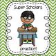 Super Scholar Behavior Posters - chevron background