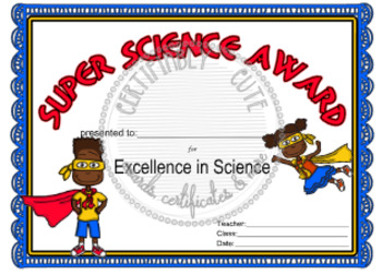 Super Science Award