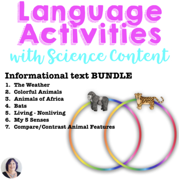 Informational Text Science Bundle for Special Education_animals_senses_weather