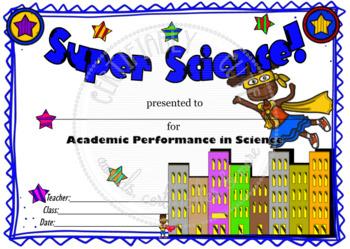 Super Science! Certificate
