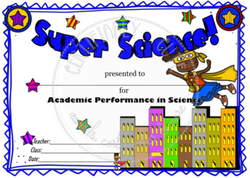Super Science! Certificate
