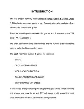 Super Science Concentration Games Grade 3