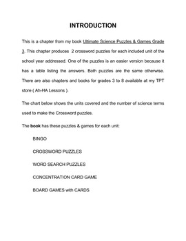 Super Science Crossword Puzzles  Grade 6