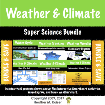 BUNDLE: Super Science Set - Weather and Climate