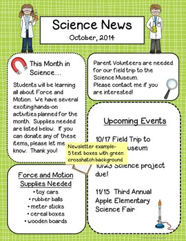 Science Templates for Newsletters, Labels, and Signs