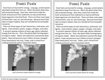 Fossil Fuels Science Test Prep Lesson