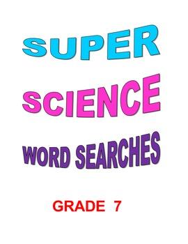 Super Science Word Searches Grade 7